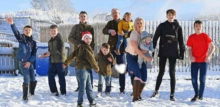 У этой шотландской мамы уже десять сыновей и ни одной дочки. И она в полном порядке!