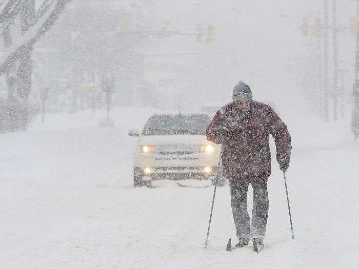 Снег и мороз в Америке и Канаде