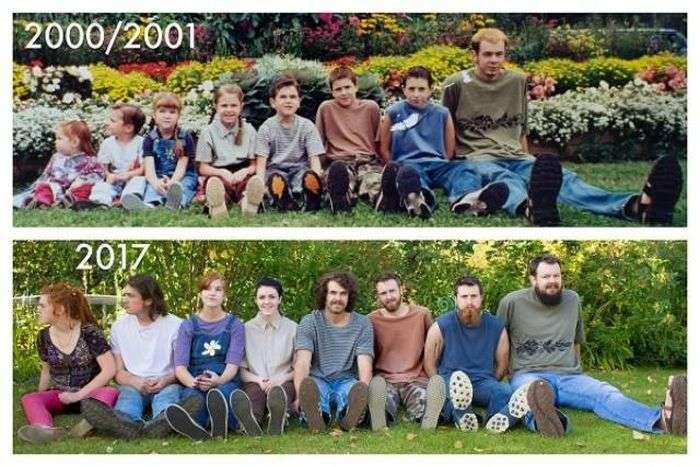 Люди воссоздают старые фото