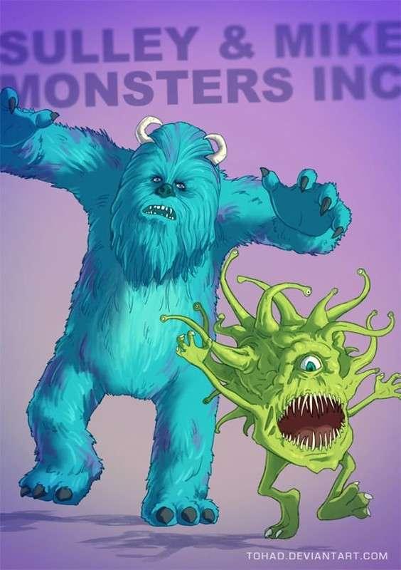 Популярные детские герои в облике монстров
