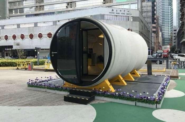 Такие вот дома из бетонных труб в будущем вполне могут решить проблему перенаселения больших городов