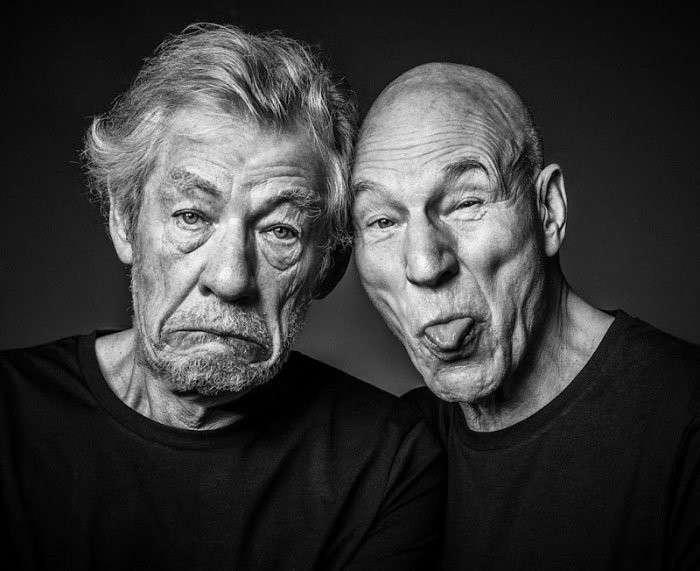 Дружба навсегда: веселые фотографии Иэна Маккеллена и Патрика Стюарта