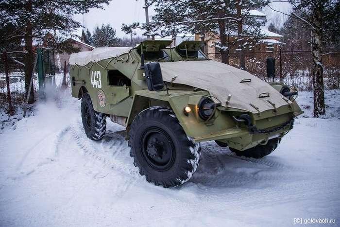 Тест-драйв советского бронетранспортера БТР-40