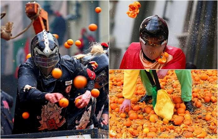 Апельсиновое сражение в Иврее