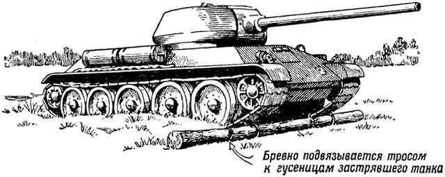 Привязанное к танку бревно - символ удачи или необходимость?
