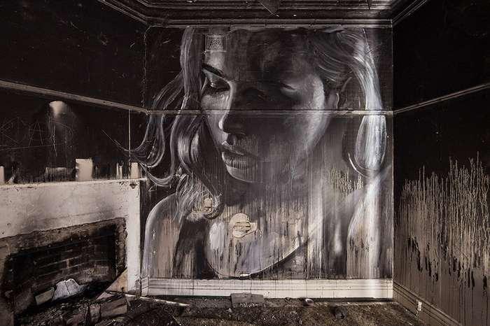 Здесь никто не ходит.... Стрит-арт художников RONE