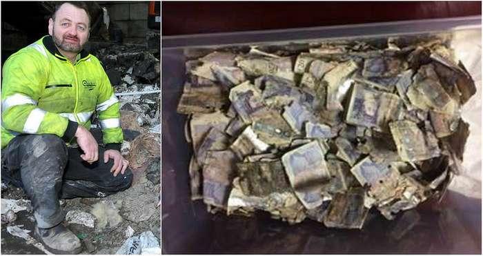 Британский мусорщик нашел &163;7 000 в отходах