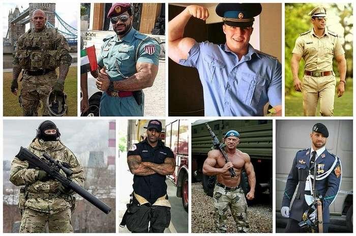 Военные, красивые и здоровенные - пост для дам