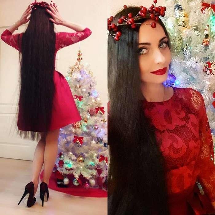 Ольга Демидова — 44-летняя -Рапунцель- с полутораметровыми волосами