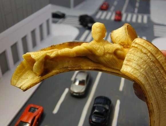 Художественная резьба на бананах