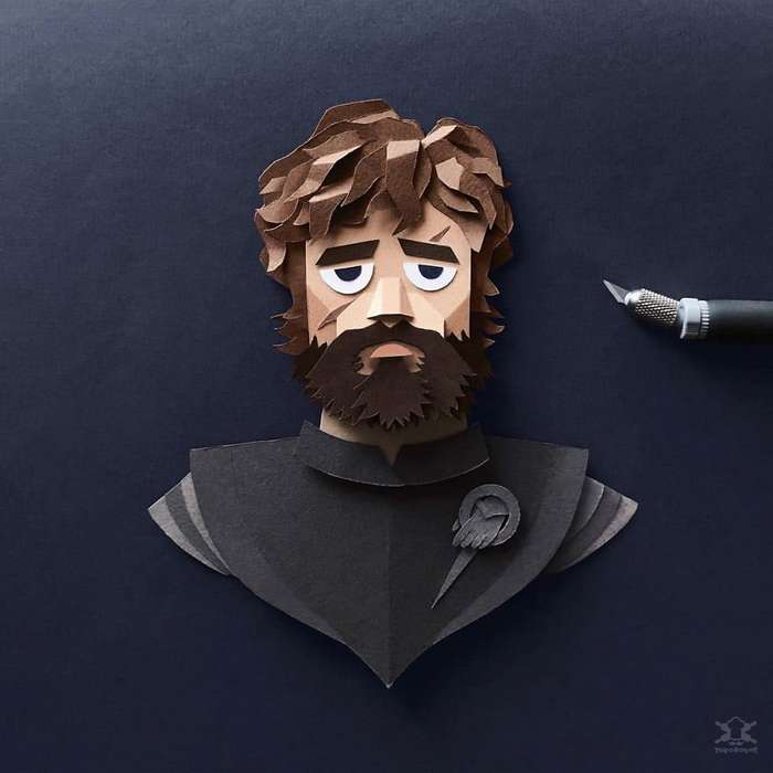 Невероятно детализованные персонажи -Игры престолов-, вырезанные из бумаги