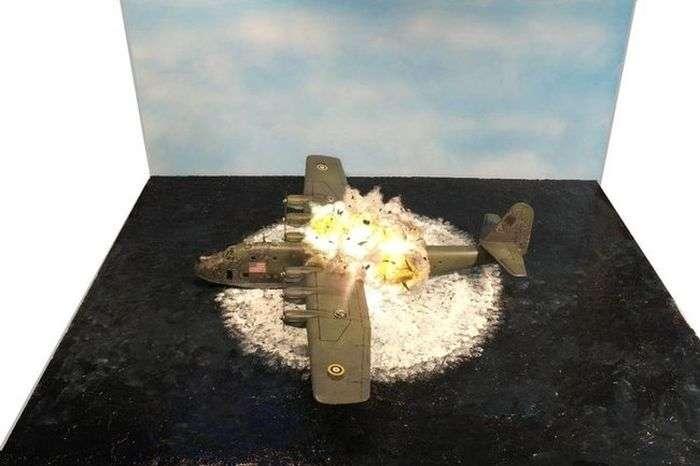 Реалистичная миниатюра -Крушение BV 222-