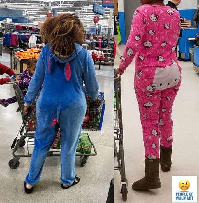 Чудные посетители супермаркетов Walmart