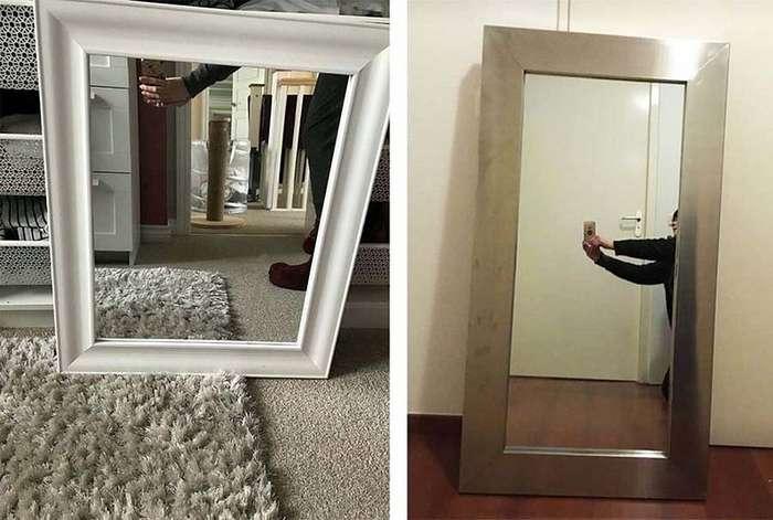 20 забавных фотографий с людьми, которые пытаются продать зеркала