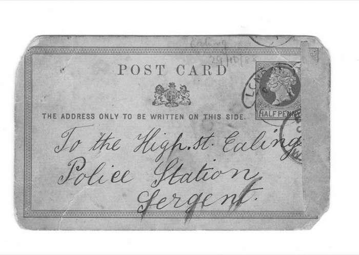 Последнюю открытку Джека Потрошителя продадут на аукционе