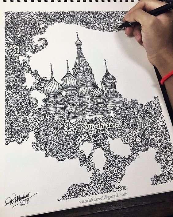Талант и черно-белые рисунки, от которых кружится голова