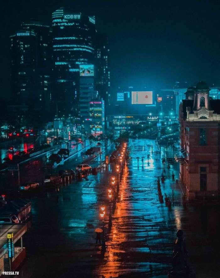 Завораживающие футуристические пейзажи Сеула