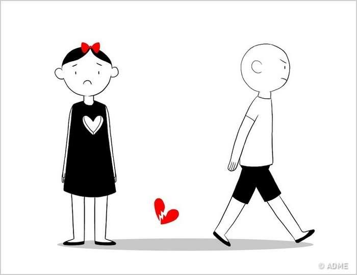 Трогательный комикс, который поймет каждый, кому хоть раз разбивали сердце