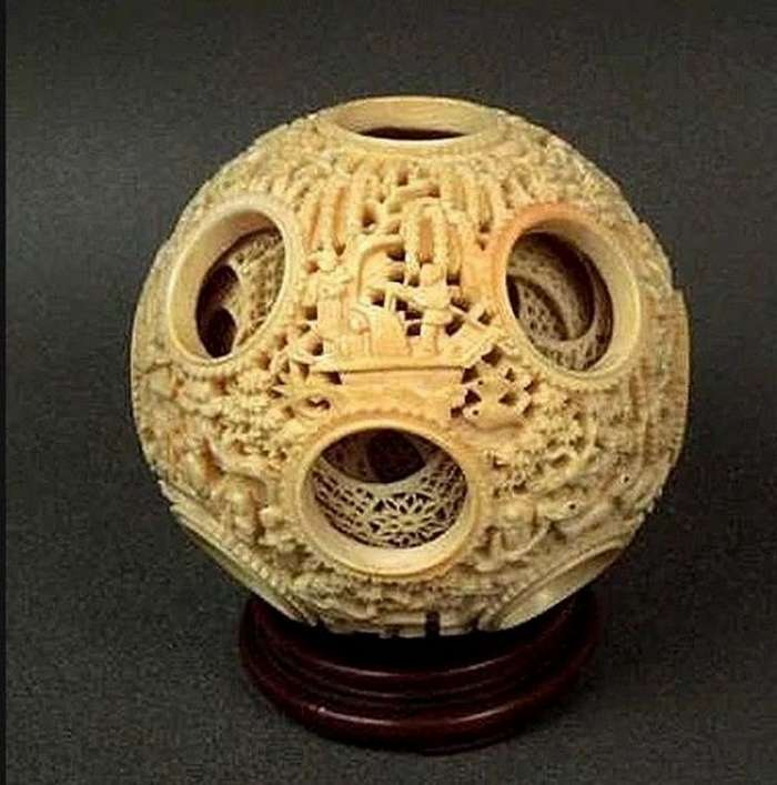 Дьявольские шары &8212; запредельное искусство резьбы