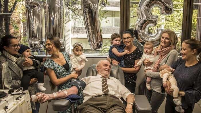Джеймс Харрисон &8211; самый знаменитый донор, который недавно сдал кровь в последний раз