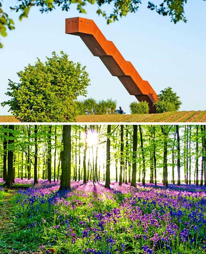 Пользователи поделились фотографиями самых безумных лестниц, накоторые отважится забраться далеко некаждый