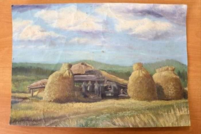 Художник-самоучка Евсей Якимов, у которого не было рук и ног