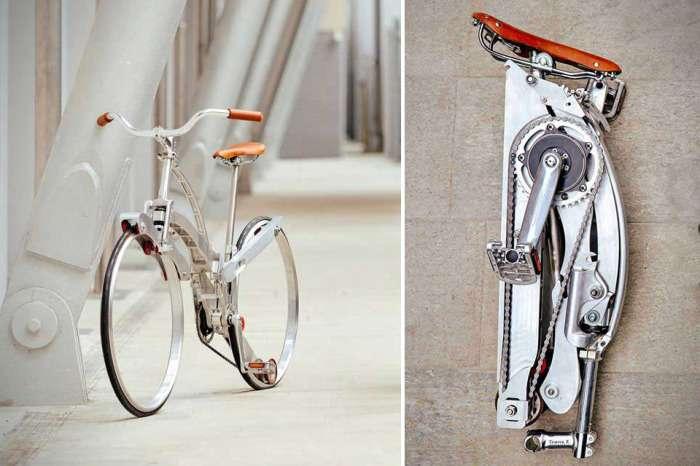 Суперкомпактный велосипед, который одним нажатием складывается до размеров зонтика