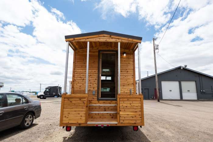 Деревянный дом на колесах, в котором любое путешествие в радость