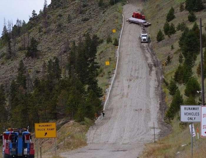 Runaway ramp: тупики для остановки фур