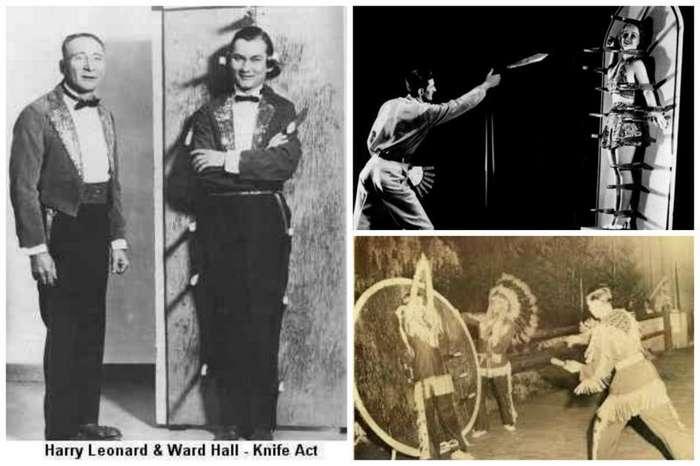 Цирк, девушки, несколько ножей-22 фото + 3 видео-