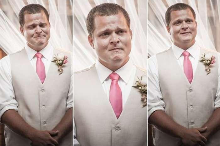 Эмоции женихов на свадьбе