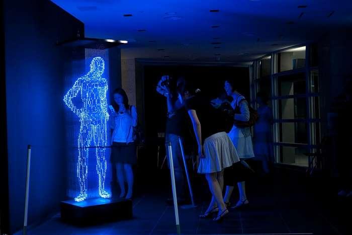 Скульптуры из светодиодов