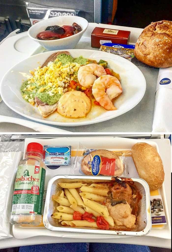 12фото, которые объяснят разницу между питанием эконом- ибизнес-класса всамолете
