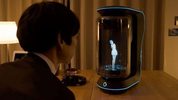 Японцы создали голографическую девушку-помощника, которая спасёт вас от одиночества-2 фото + 1 видео-