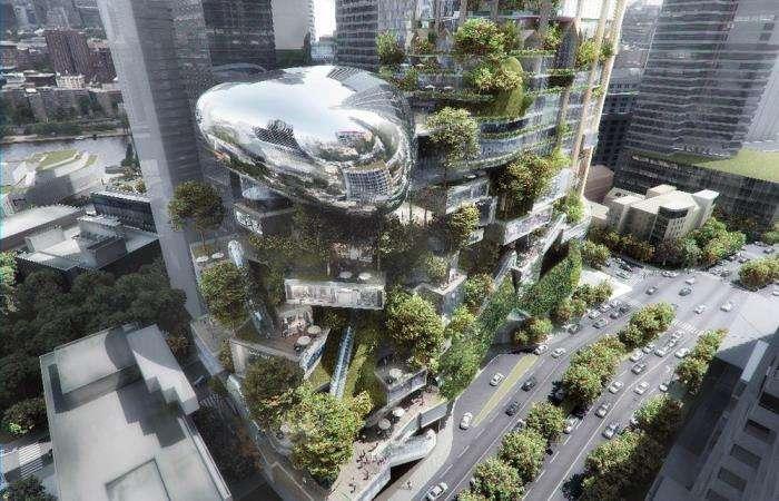 5 небоскребов, в которых можно обнаружить сады буквально повсюду