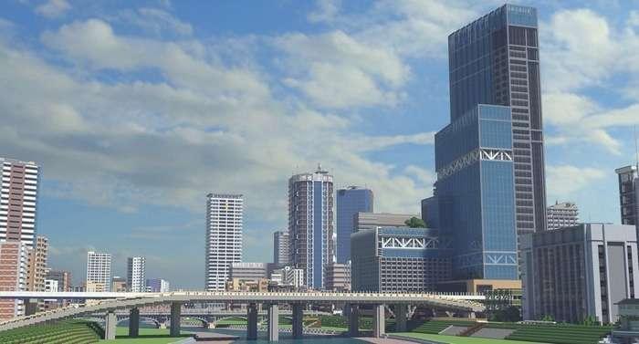 Японский геймер создаёт в Minecraft города, похожие на фотографии