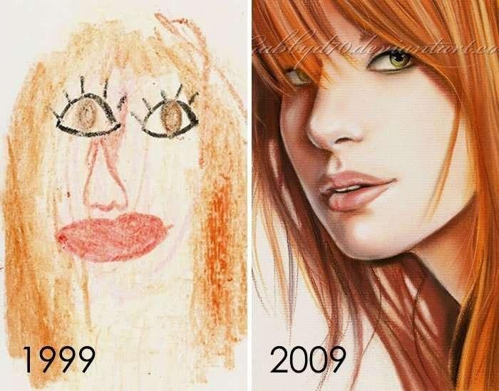 Художники показали, насколько можно улучшить свои навыки