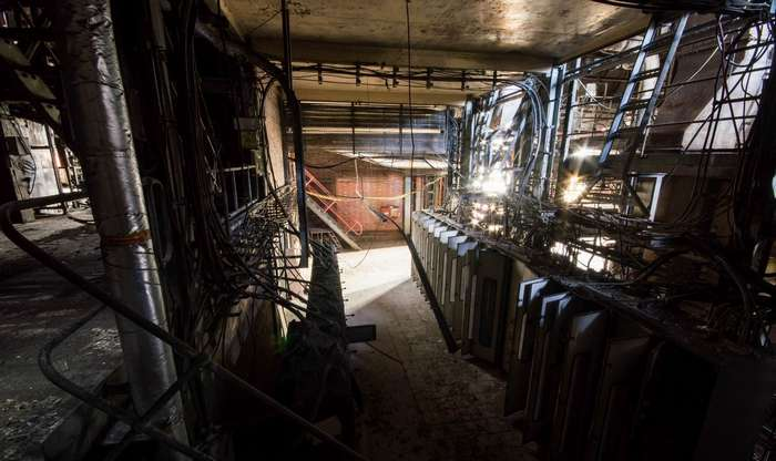 Заброшенная угольная электростанция в Великобритании