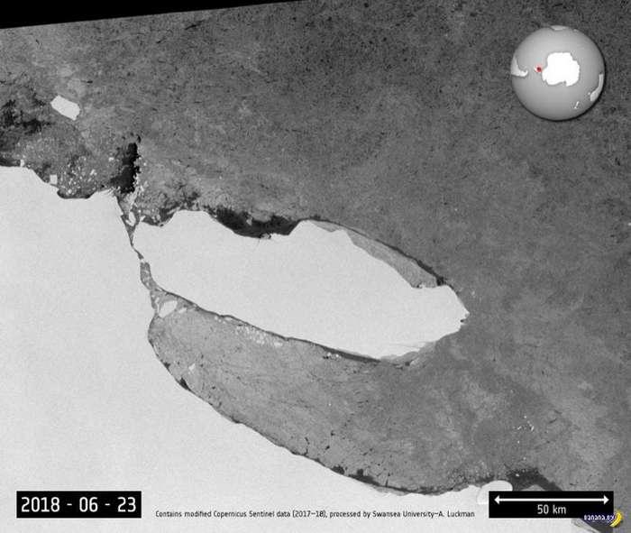 Гигантский айсберг-сепаратист вышел из состава Антарктиды