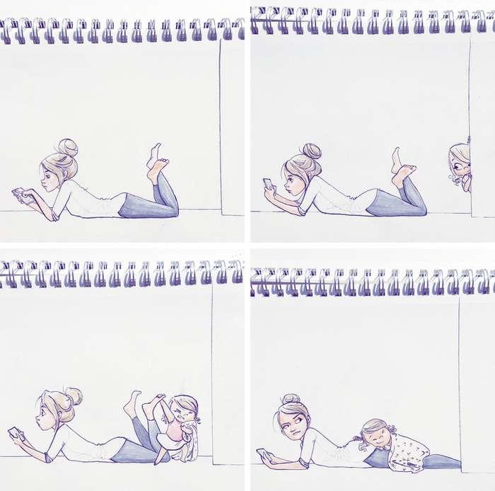 11рисованных историй отмамы-мормона, родившей 4детей. Вних есть рецепт, как несойти сума смалышами