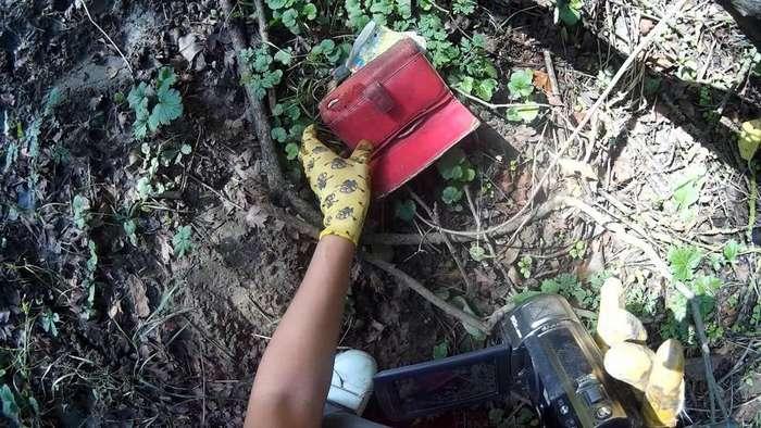 Нашла кошелек в лесу!-16 фото-