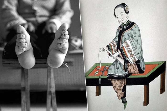 История обычая бинтования ног в Китае