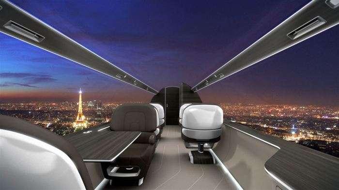 Самолет без иллюминаторов, но с панорамным видом: как такое возможно
