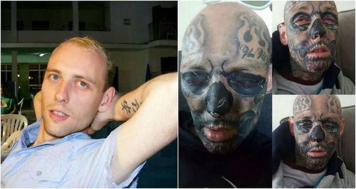 Ирландец потратил $36 000, чтобы забить себя 600 татуировками