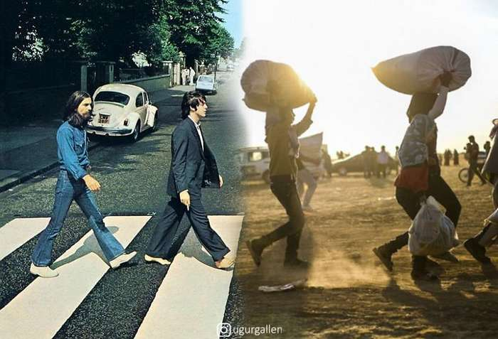 Контраст между двумя мирами, в которых мы живем