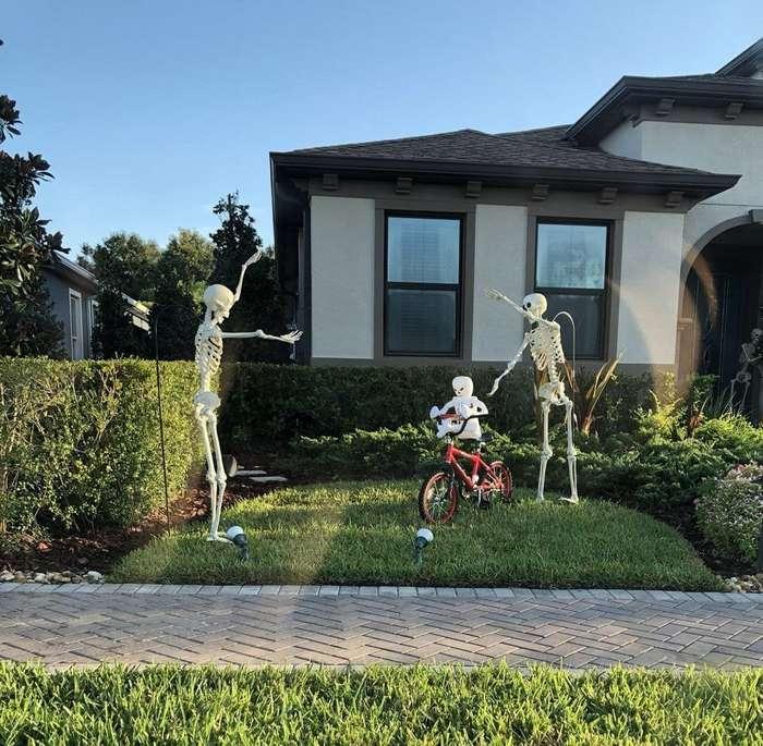 Вот это уровень: Как американская семья подготовилась к хэллоуину