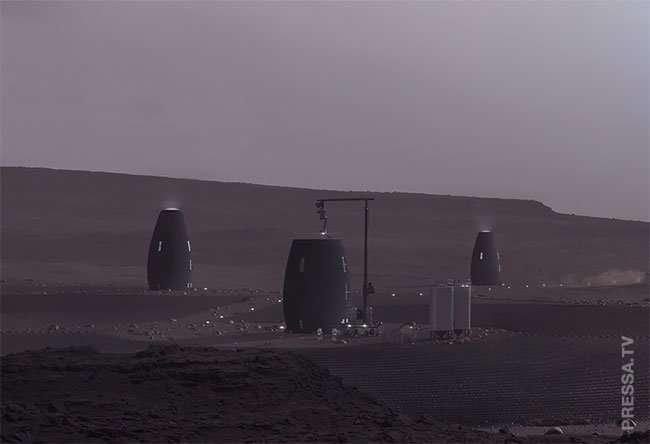 3D-печатные дома для жизни на Марсе