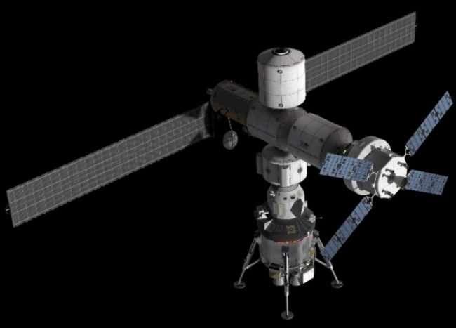 Lockheed Martin представила концепт посадочного лунного модуля для станции Gateway -4 фото + видео-