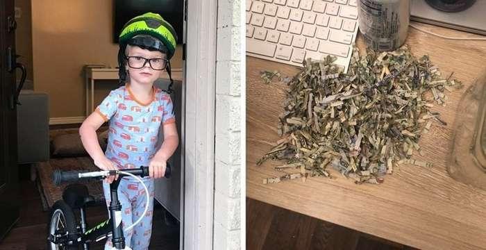 Ребёнок уничтожил накопленные родителями деньги, но они остались в выигрыше-5 фото-
