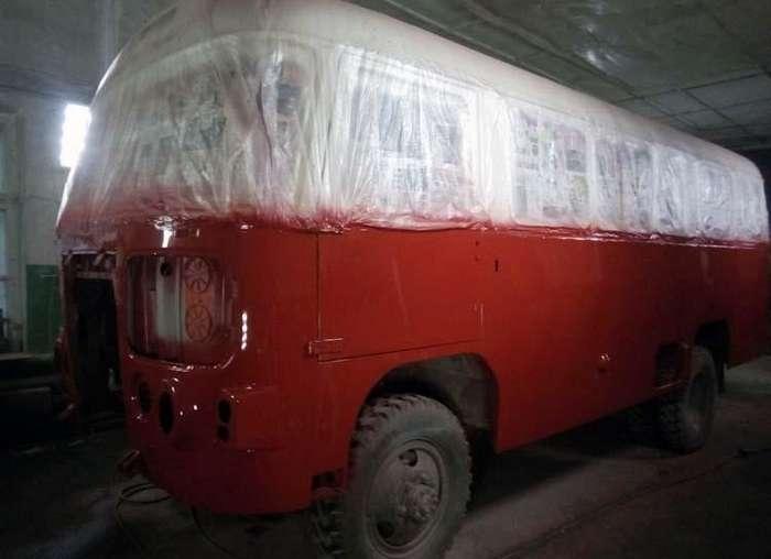 Восстановление полноприводного автобуса ПАЗ 3201-С
